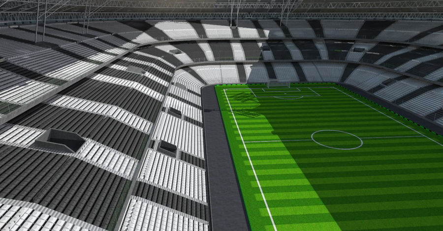 Soccer Stadium royalty-free 3d model - Preview no. 3