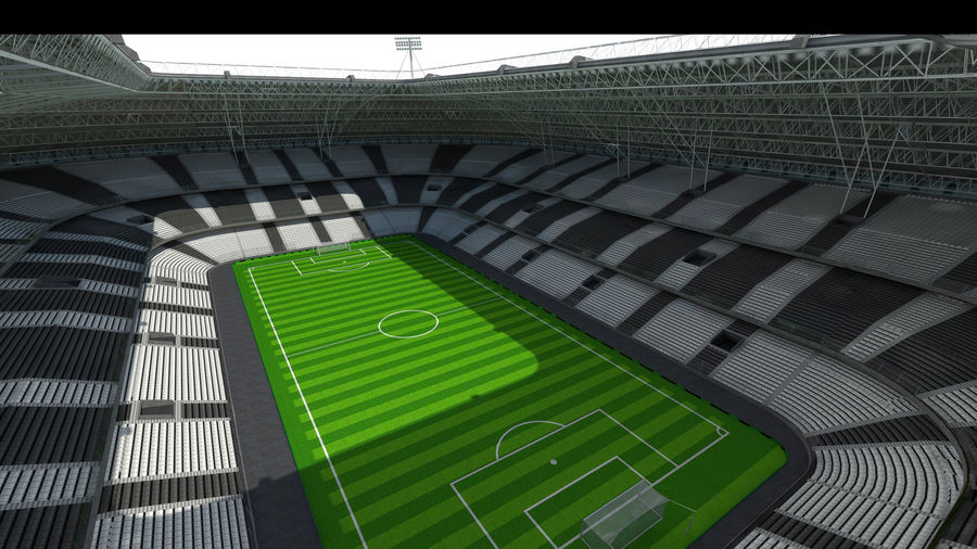 Soccer Stadium royalty-free 3d model - Preview no. 2