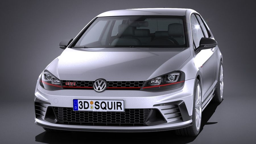 Volkswagen Golf Gti Clubsport S 2017 3d Model 149 Obj X Lwo