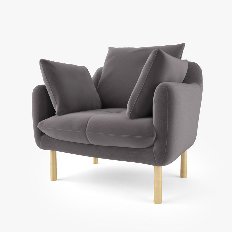 Jardan Andy Armchair royalty-free 3d model - Preview no. 2