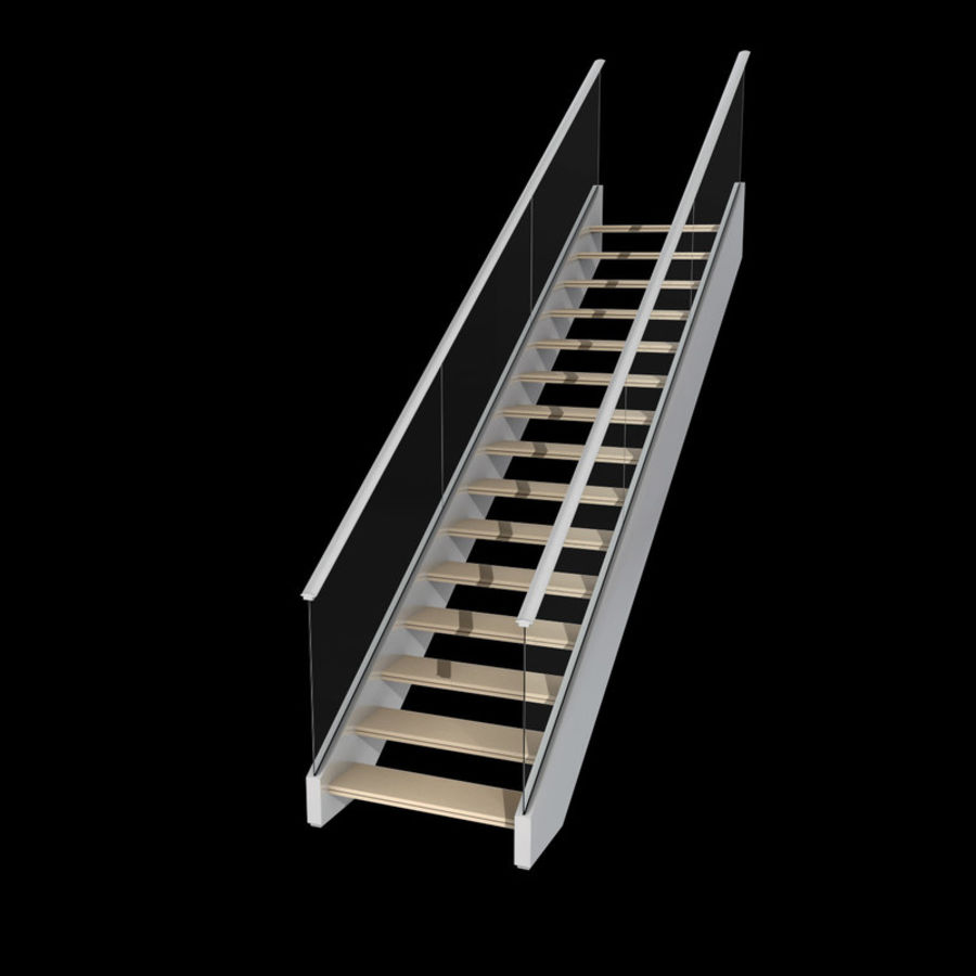 Modern stair royalty-free 3d model - Preview no. 4