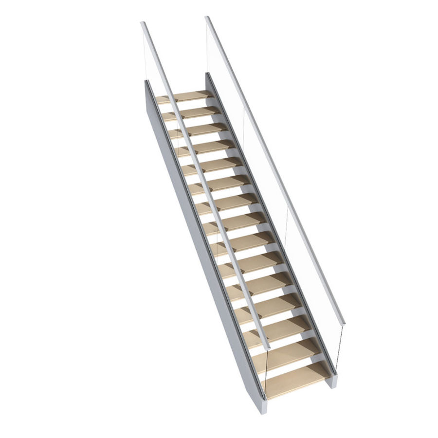 Modern stair royalty-free 3d model - Preview no. 7