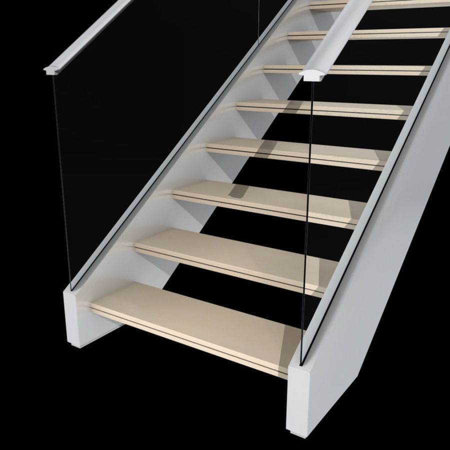 Modern stair royalty-free 3d model - Preview no. 8