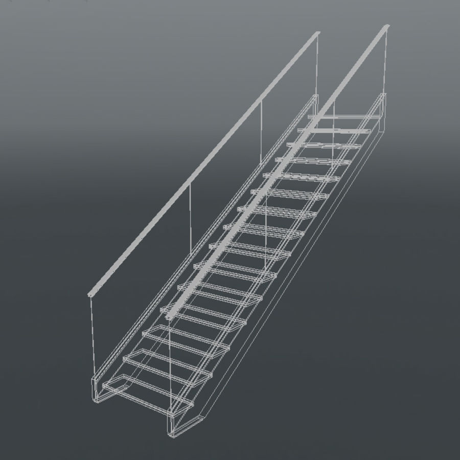 Modern stair royalty-free 3d model - Preview no. 11