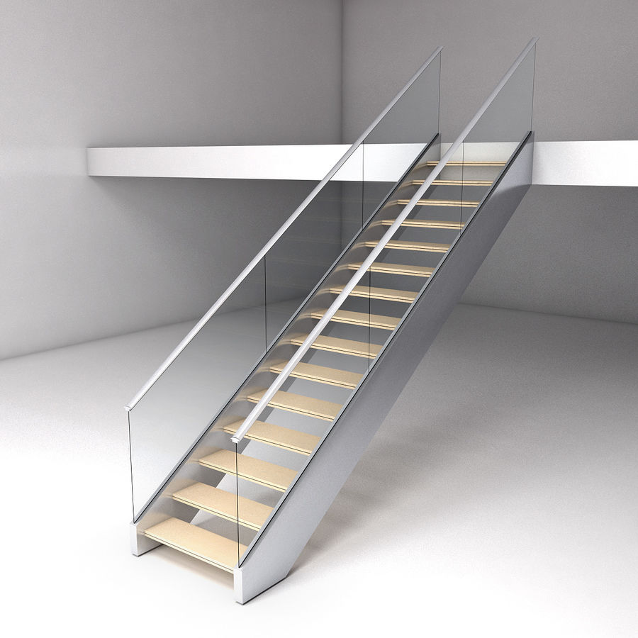 Modern stair royalty-free 3d model - Preview no. 1
