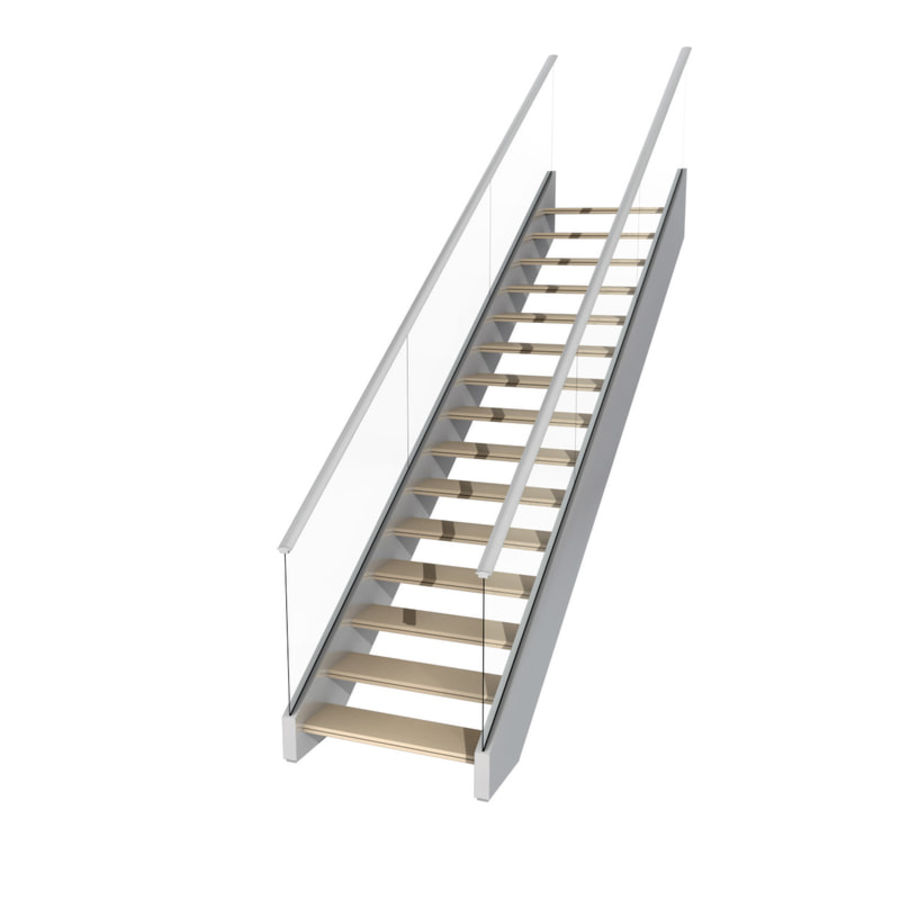 Modern stair royalty-free 3d model - Preview no. 5