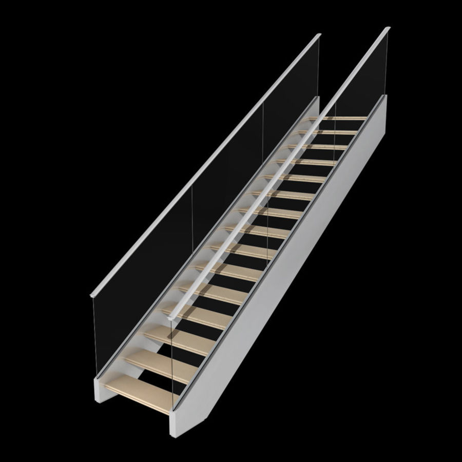 Modern stair royalty-free 3d model - Preview no. 2