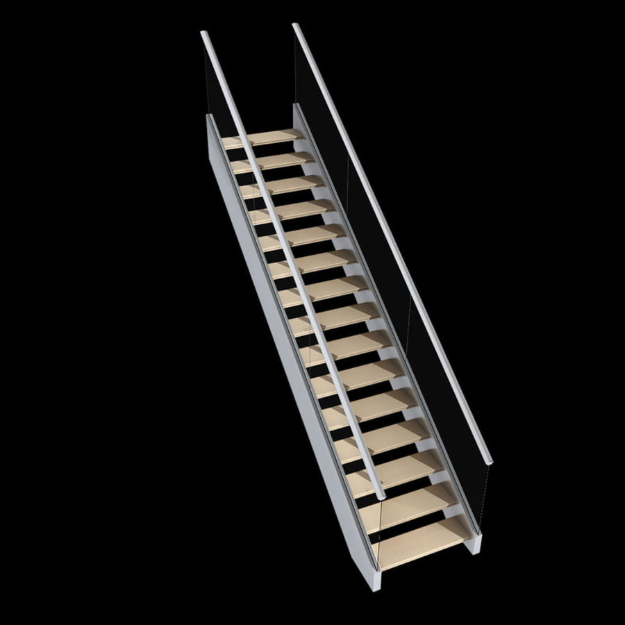Modern stair royalty-free 3d model - Preview no. 6