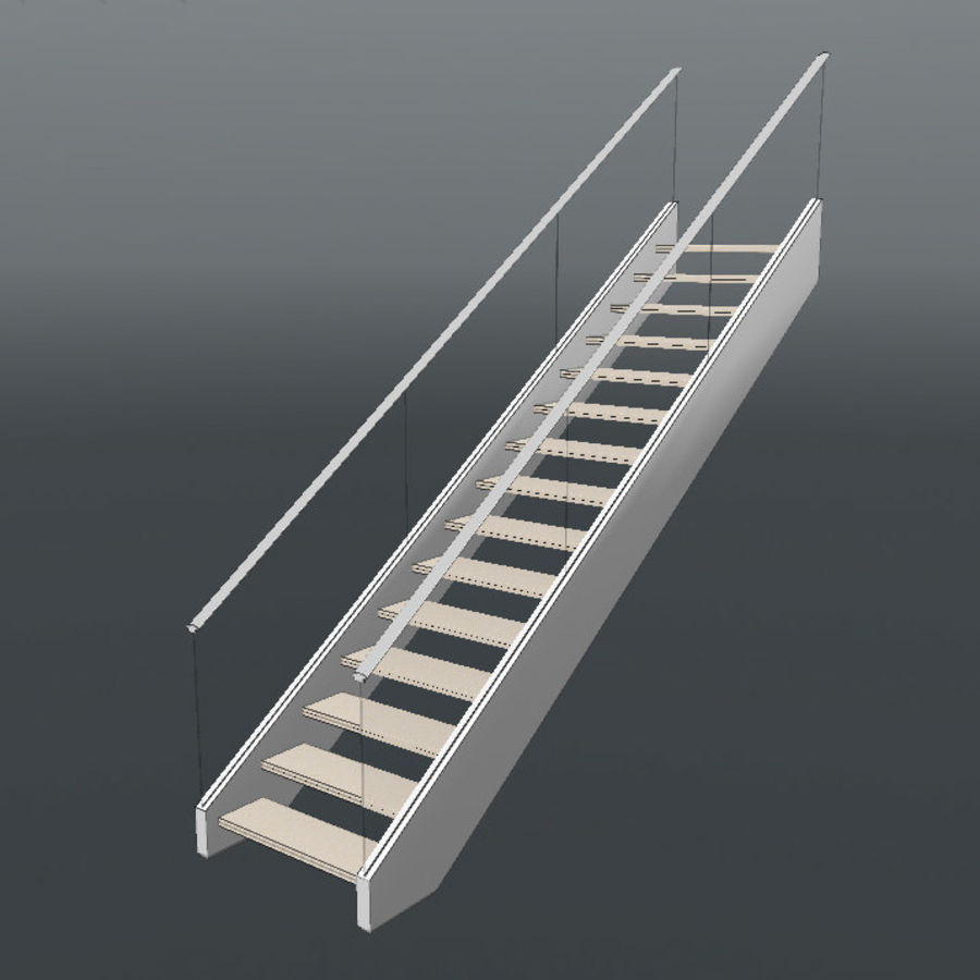 Modern stair royalty-free 3d model - Preview no. 10