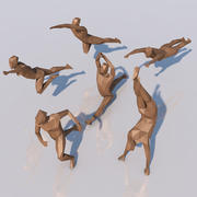 human athletic (Low-Poly) 3d model