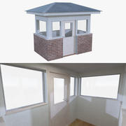 Guard house two with interior full 3d model