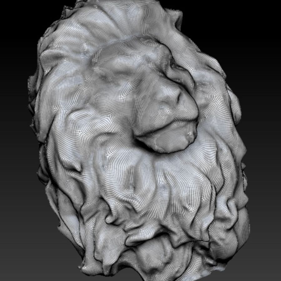 king Lion head bust royalty-free 3d model - Preview no. 3