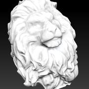 king Lion head bust 3d model