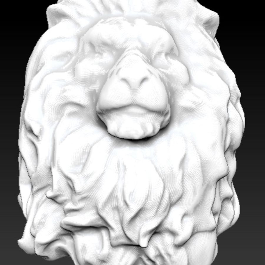 king Lion head bust royalty-free 3d model - Preview no. 5