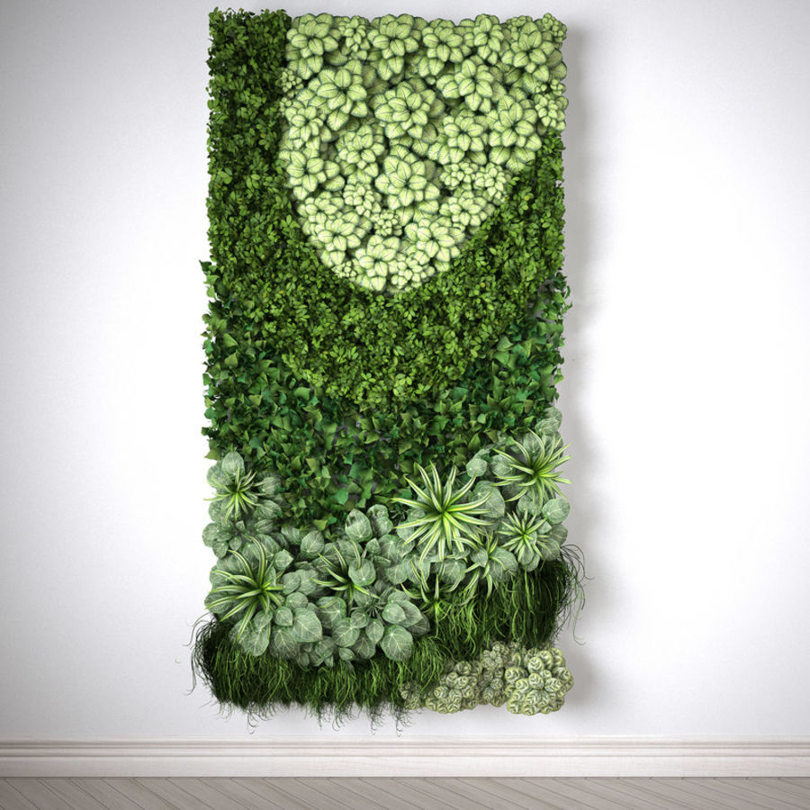 Vertical Garden, 2x1 Meters, MODUL ONE Royalty Free 3d Model   Preview No