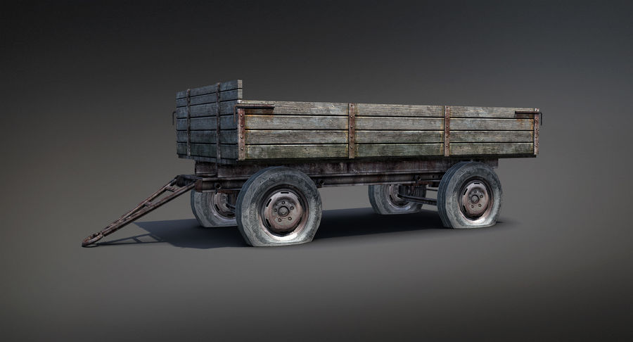 Russian Village Cart royalty-free 3d model - Preview no. 5