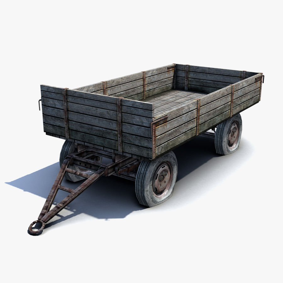 Russian Village Cart royalty-free 3d model - Preview no. 1