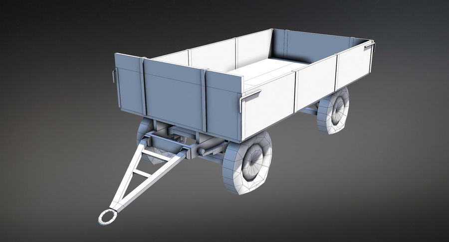 Russian Village Cart royalty-free 3d model - Preview no. 6
