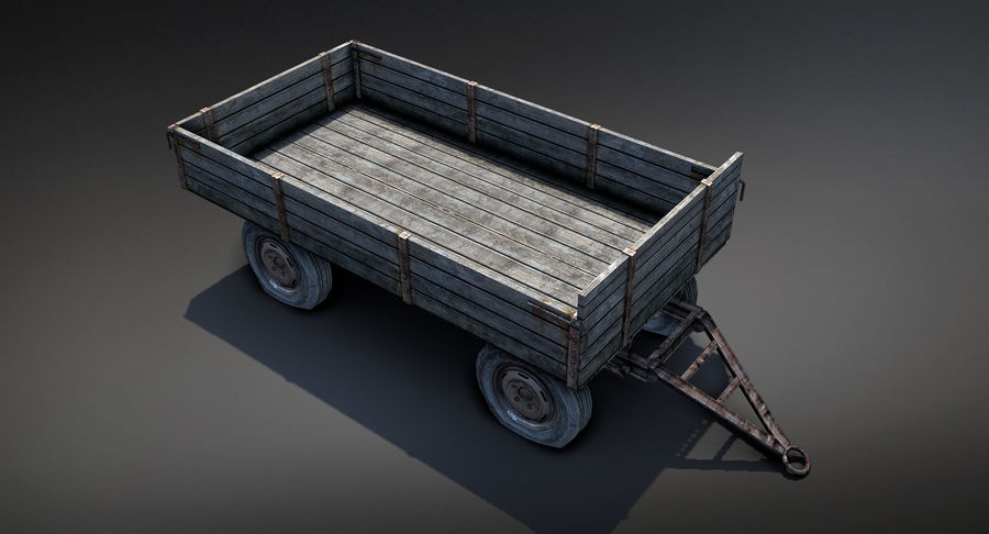 Russian Village Cart royalty-free 3d model - Preview no. 4