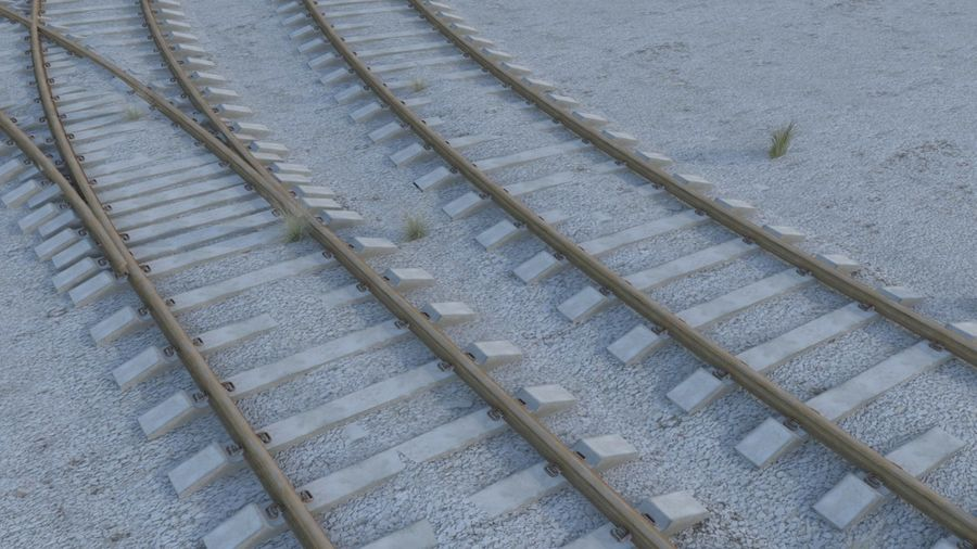 鉄道 royalty-free 3d model - Preview no. 2