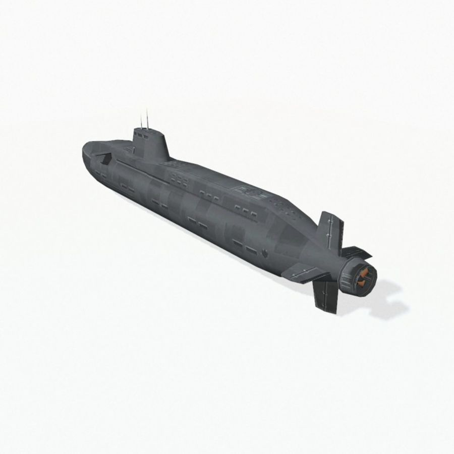 Astute-class submarine royalty-free 3d model - Preview no. 5