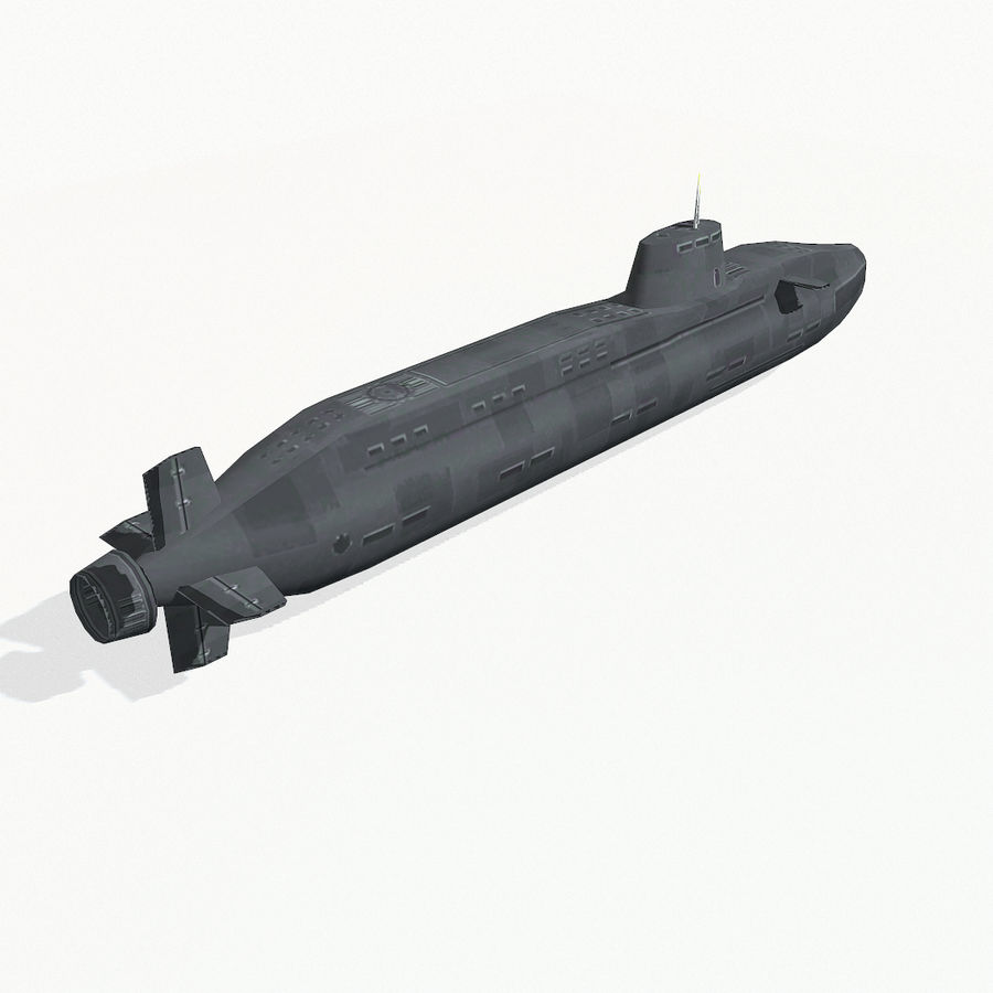 Astute-class submarine royalty-free 3d model - Preview no. 6