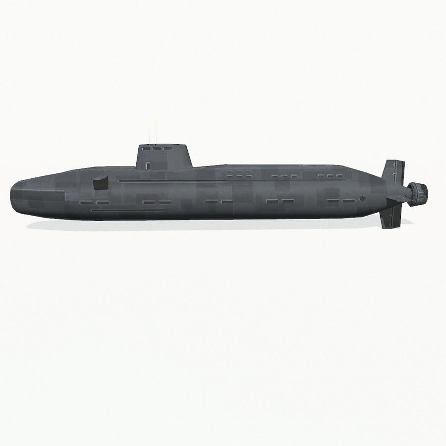 Astute-class submarine royalty-free 3d model - Preview no. 4