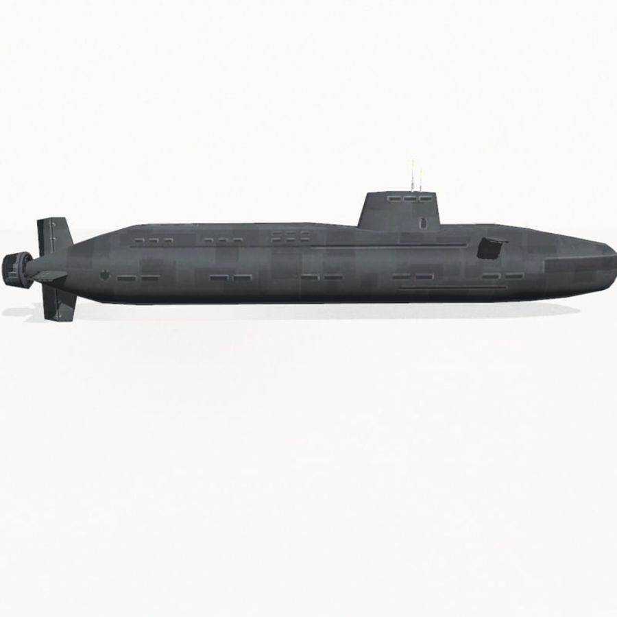 Astute-class submarine royalty-free 3d model - Preview no. 7