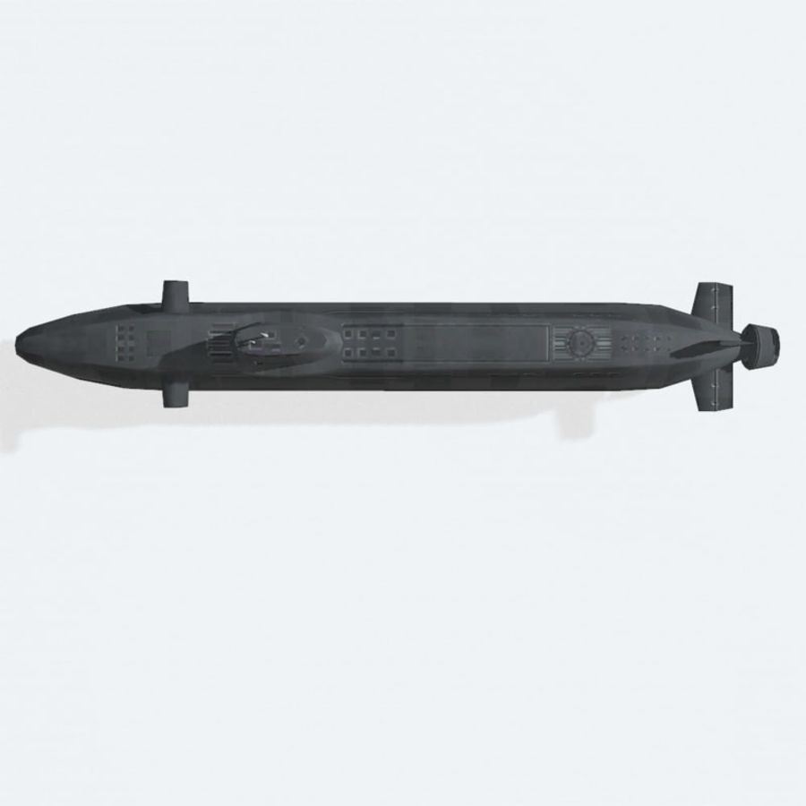 Astute-class submarine royalty-free 3d model - Preview no. 9