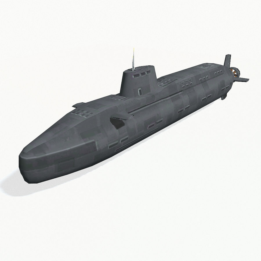 Astute-class submarine royalty-free 3d model - Preview no. 2