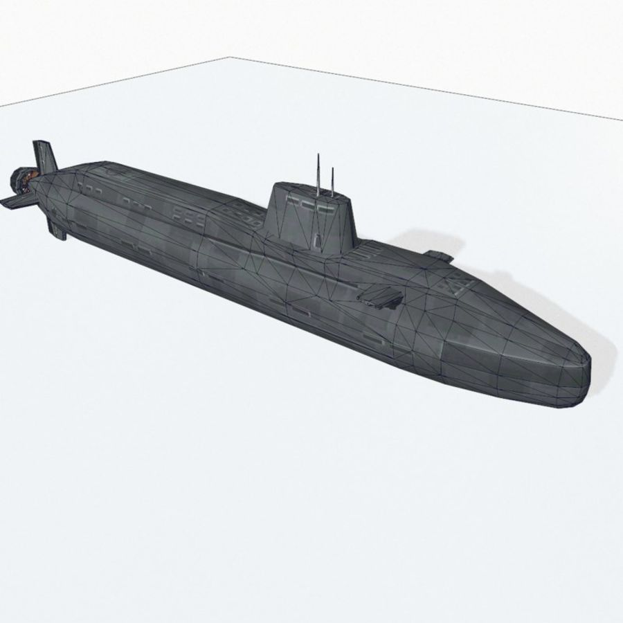 Astute-class submarine royalty-free 3d model - Preview no. 13