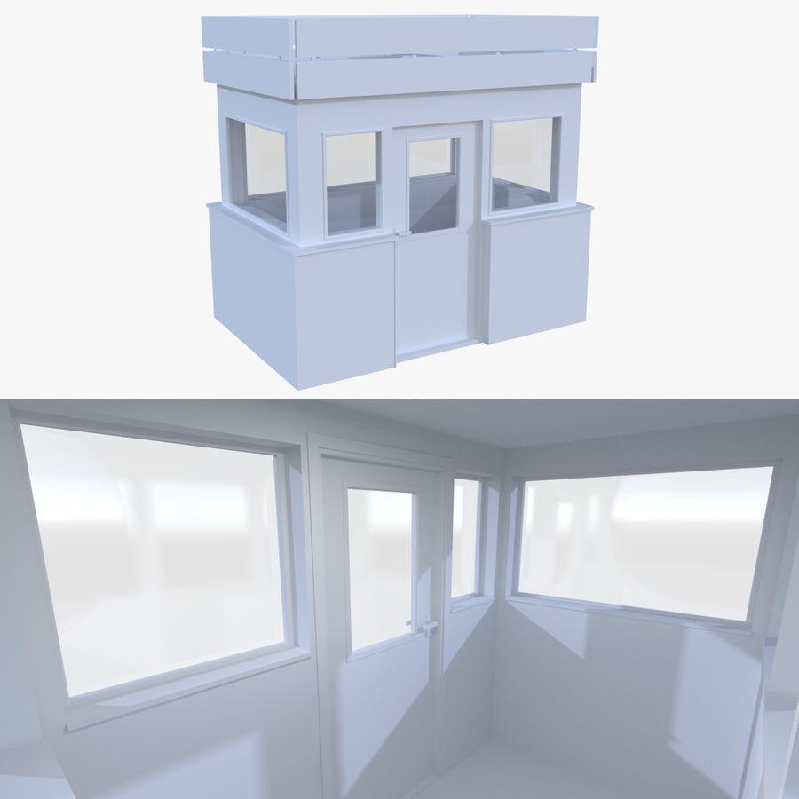 Maison de garde avec intérieur modèle 3D $12 - .obj .fbx .dae .blend ...