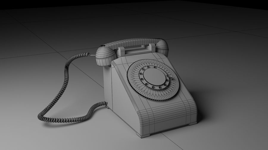 Old Phone royalty-free 3d model - Preview no. 1