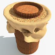 Basket with Seeds 3d model
