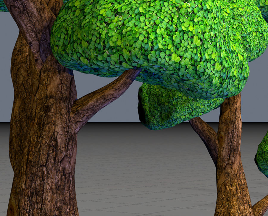 Tree Toon Ficus 3 mesh royalty-free 3d model - Preview no. 4