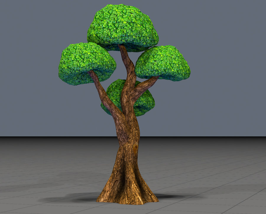 Tree Toon Ficus 3 mesh royalty-free 3d model - Preview no. 3