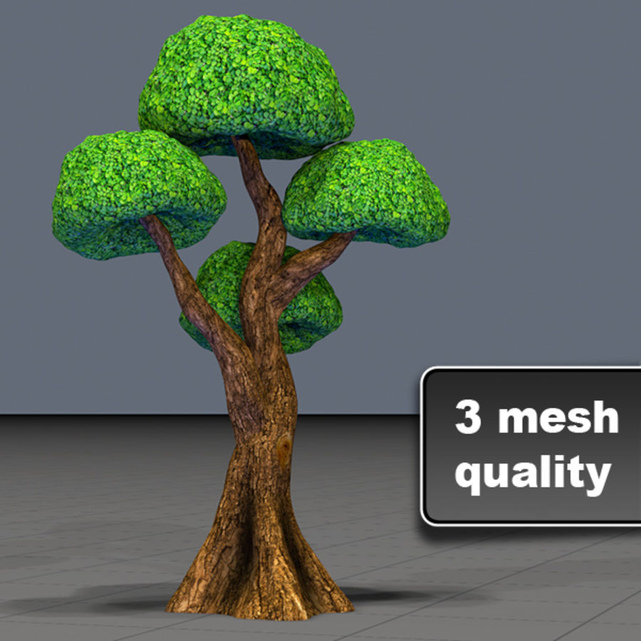 Tree Toon Ficus 3 mesh royalty-free 3d model - Preview no. 1