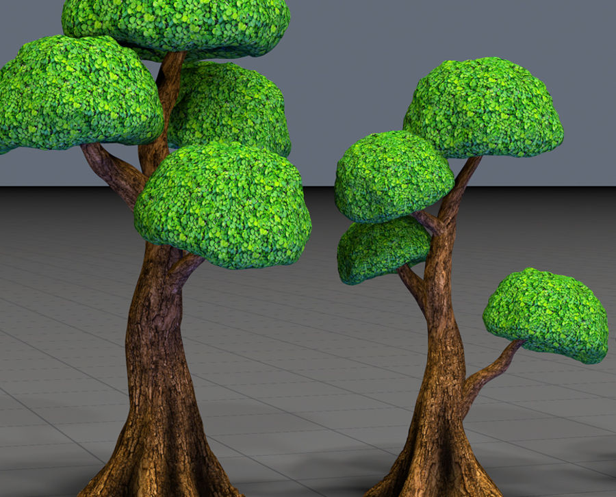 Tree Toon Ficus 3 mesh royalty-free 3d model - Preview no. 2
