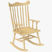 Rocking Chair Oak 3d model