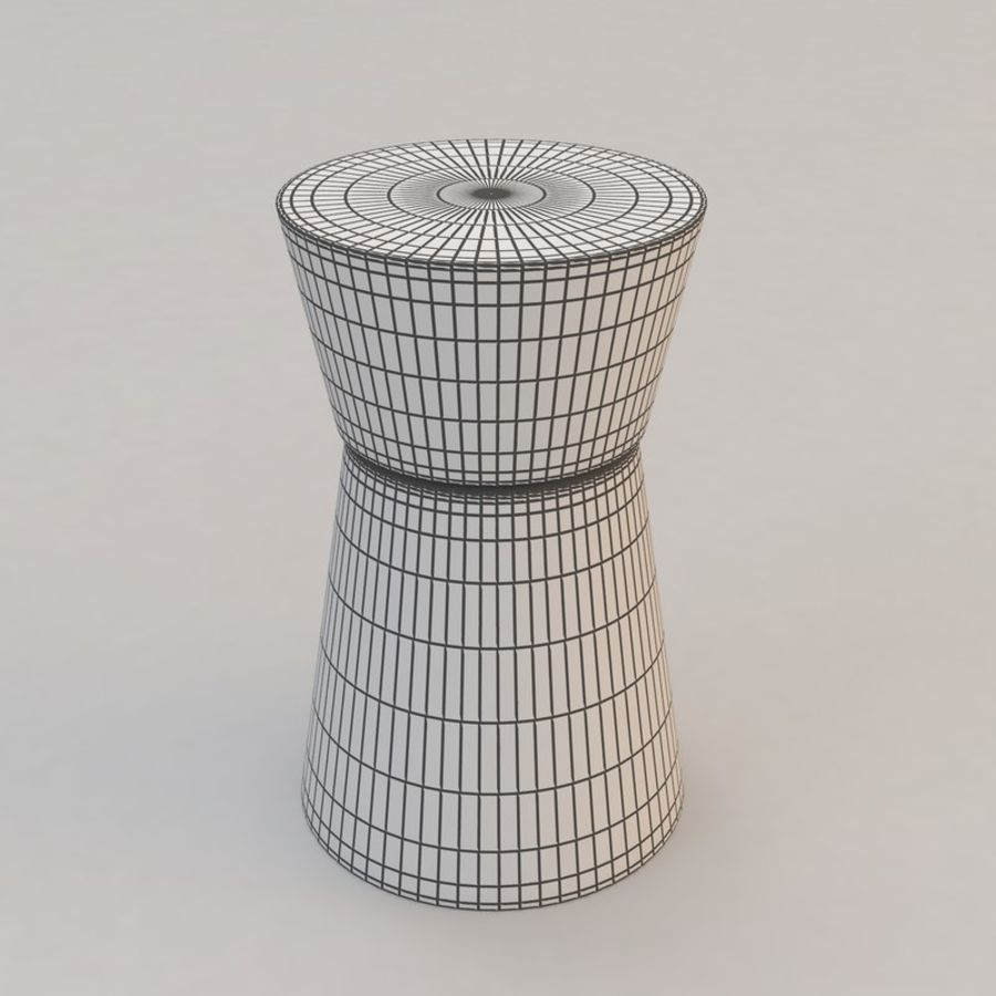 Anquilin Side Table by Christian Liaigre royalty-free 3d model - Preview no. 2