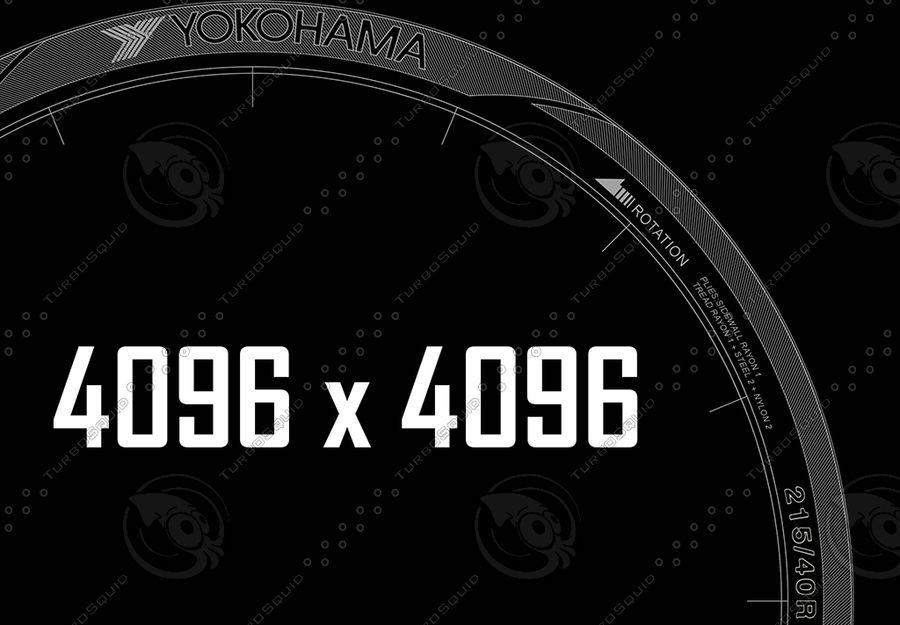 Yokohama S.Drive AS01 royalty-free 3d model - Preview no. 8