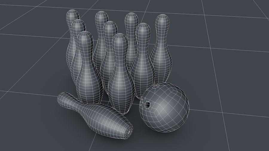 Bowling Pins & Ball royalty-free 3d model - Preview no. 6