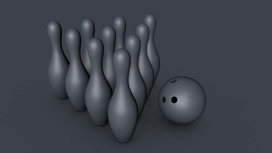 Bowling Pins & Ball royalty-free 3d model - Preview no. 2