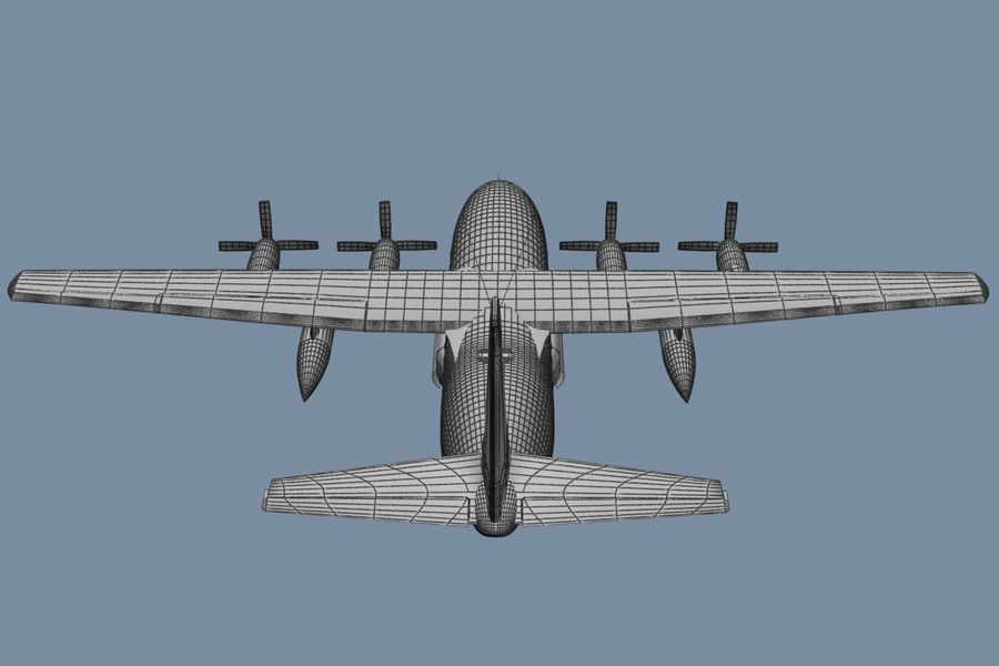 C130 Flugzeug royalty-free 3d model - Preview no. 7