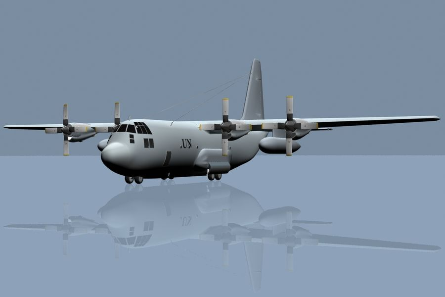 C130 Flugzeug royalty-free 3d model - Preview no. 5