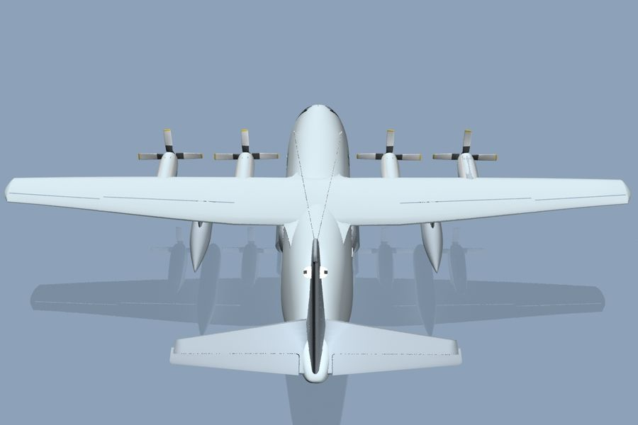 C130 Flugzeug royalty-free 3d model - Preview no. 3