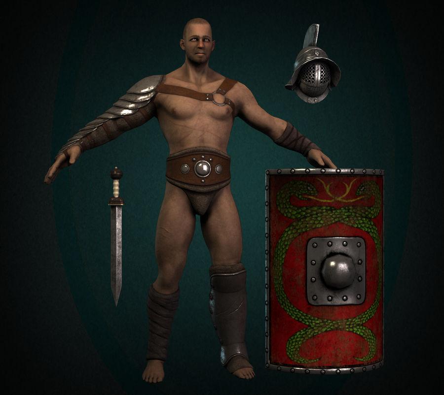 Gladiador Guerreiro royalty-free 3d model - Preview no. 1