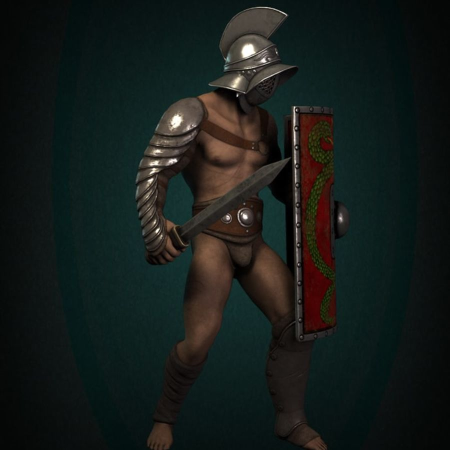 Gladiator Warrior royalty-free 3d model - Preview no. 3