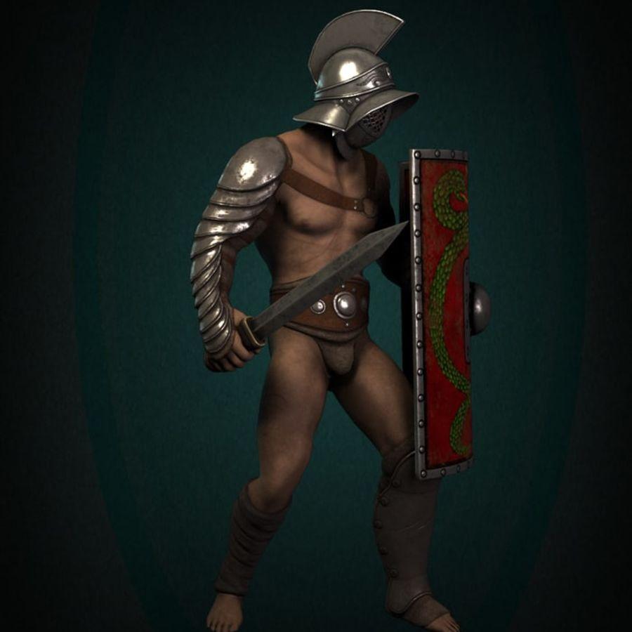 Gladiador Guerreiro royalty-free 3d model - Preview no. 3
