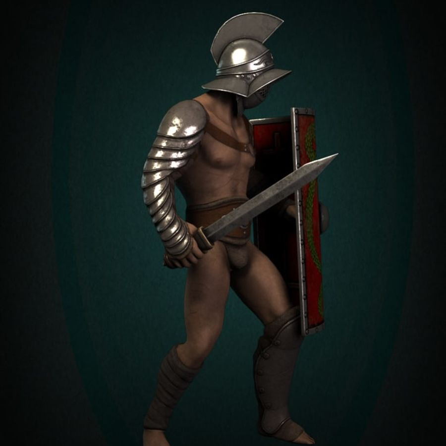 Gladiator Warrior royalty-free 3d model - Preview no. 4